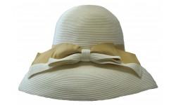 Wide brim hat - Tara - white/beige