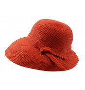 Wide brim hat - Joanna - orange
