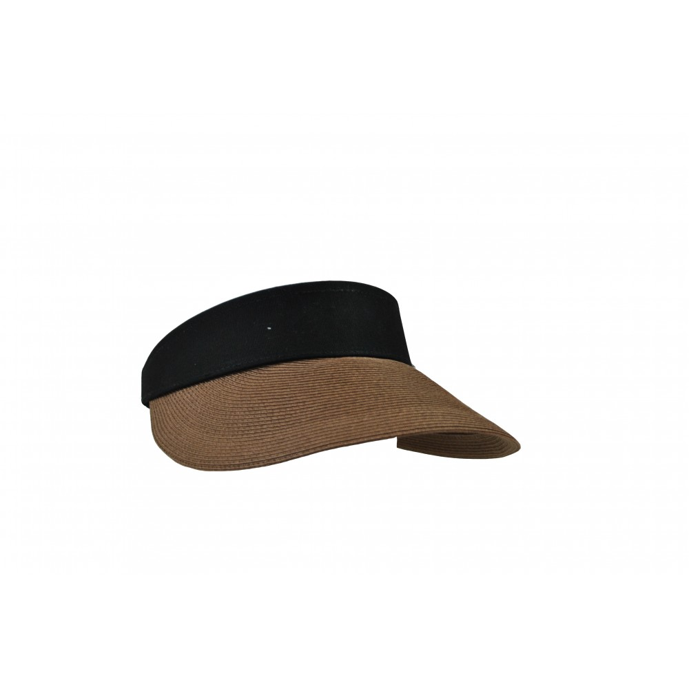 Sun visor - Evy - tan brown